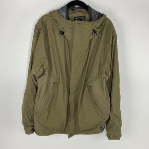 REI outdoor camping  rain jacket army green